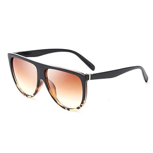 New Energy übergroße Damen Sonnenbrille Schwarz Braun 400 UV-Schutz