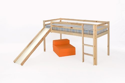 3ft (90cm) Mid Sleeper Bunk in Pine with Slide