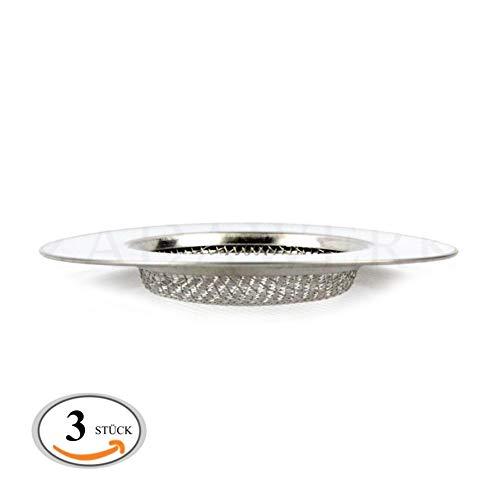 ZADAWERK® Abflusssieb - Fein - Ø 7 cm Flach - 3 Stück