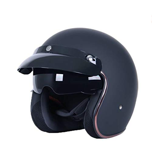 Männer Frauen Motorrad Helm 3/4 Offenes Gesicht Vintage Casco Moto Jet Roller Fahrradhelm Komfort Atmungsaktiv Sicherheit Retro Harley Motorrad Helm Jahreszeiten Universal