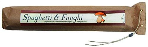 Spaghetti & Funghi – Gourmet Geschenk – Spaghetti mit fertiger Saucen Mischung (560g) – zum Kochen oder Verschenken – von Feuer & Glas Glas-sauce-gerichte