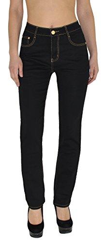 by- tex Damen Jeans Hose Damen High Waist Jeanshose Straight Leg Hochbund Hosen bis Übergröße 54, 56 #J23 (Bein Gerades Stretch Hose)