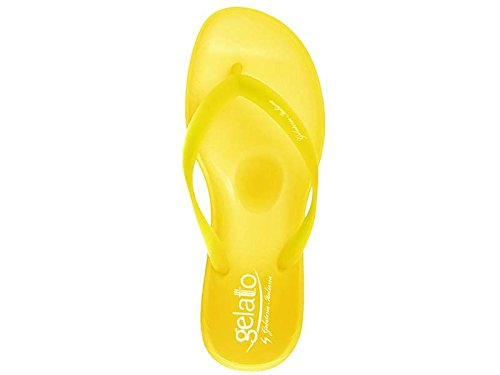 gelattto , Tongs pour femme Blanc Cassé TOTAL WHITE Jaune - TOTAL YELLOW