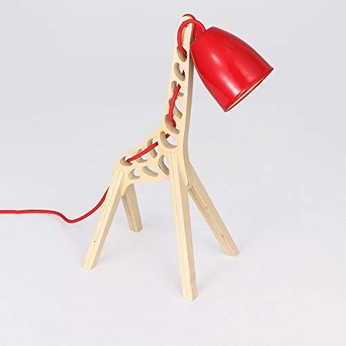 Postmoderne Kreative Giraffe Dekoriert Tischlampe Schwinge Verstellbare Schreibtischlampe Nordic Einfache Massivholz Schreibtischlampe Schlafzimmer Nachttischlampe Studie Kinder Scheinwerfer -