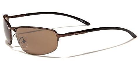 X-Loop Metall Sportbrille Unisex Damen Herren Sport Sonnenbrille mit flexiblen Federscharnier Bügel