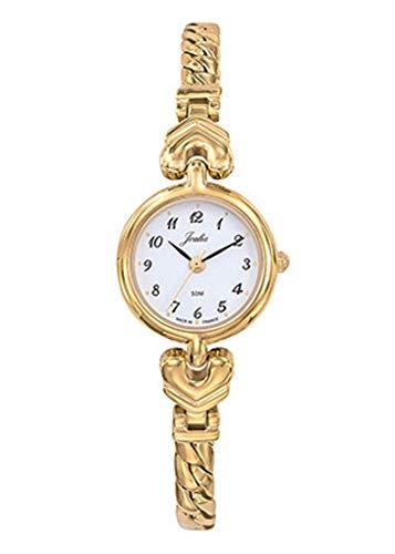 Joalia H630M547 - Orologio da donna con cinturino dorato e quadrante bianco