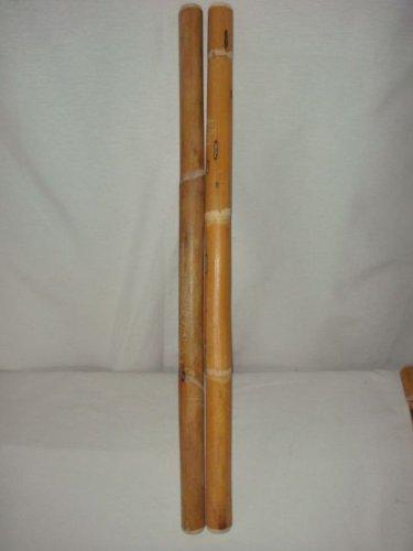 Preisvergleich Produktbild Escrima Eskrima Arnis Kali Stöcke 2 Stück 65 cm 26 / 28 ( Naturprodukt Oberfläche nicht bearbeitet)
