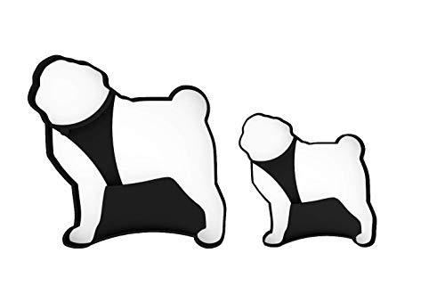 3DREAMS  Ausstecher Set Mops │Pug Cookie-Cutter │ Hunde Ausstechform aus Bio-Kunststoff │ lebensmittelecht │Keksausstecher Made in Germany