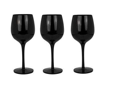 Ard' time tf-3ver Fiera ai vini-Set di 3calici vetro nero 35x 7,5x 20,5cm
