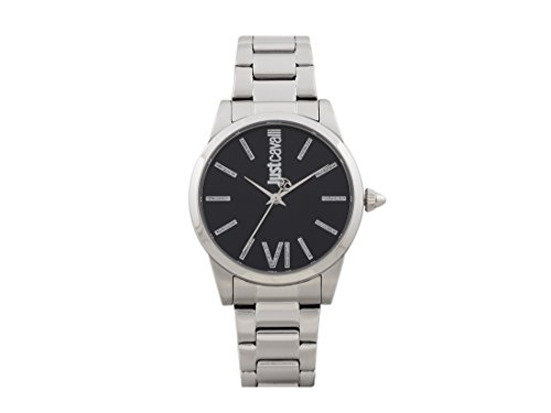 Just Cavalli Damen Analog-Digital Quarz Uhr mit Edelstahl Armband JC1L010M0075