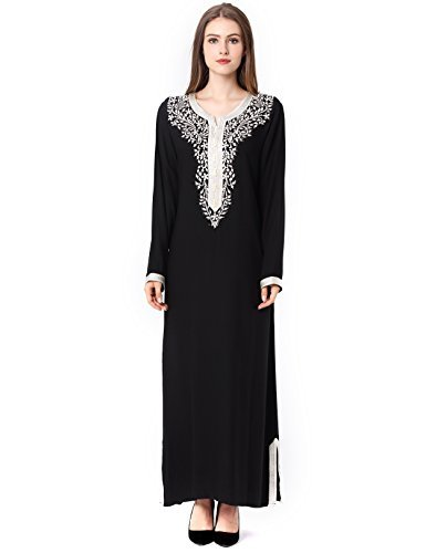 Muslim Dress Dubai Kaftan For Women Long Sleeve Long Arabic Dress Abaya Islamic Clothing Girls Caftan JALABIYA