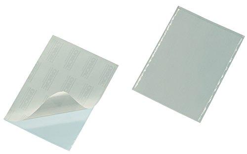 Durable 837919 Selbstklebetasche Pocketfix (90 x 57 mm (Innen) ohne Einsteckschilder) Packung à 100 Stück transparent