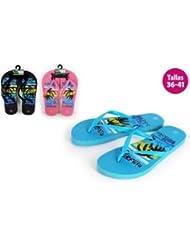 Aquapro Chaussures Motif plage beach noir