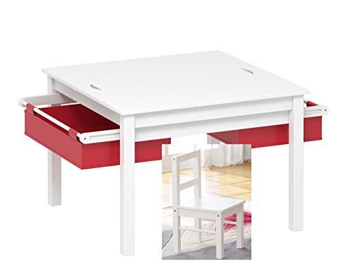 UTEX - Juego de Mesa y 2 sillas para niños 2 en 1