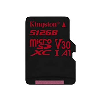 Kingston Canvas React - MicroSD de 512 GB, Color Negro