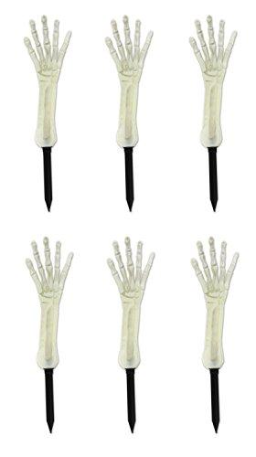 ück nite-glo Skelett Hand Yard dem Spiel, 43,2cm ()