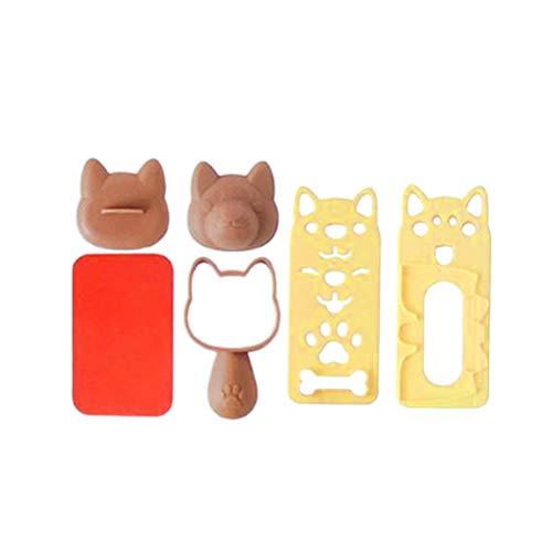BESTONZON 1 Satz Bento Zubehör Sushi Form Reis Ball Mold Cute Puppy Dog Muster Sushi Bento Nori Reis Dekor Sandwich DIY Küche Werkzeuge für Baby Kinder Mahlzeit (Mold Bento-reis-ball)