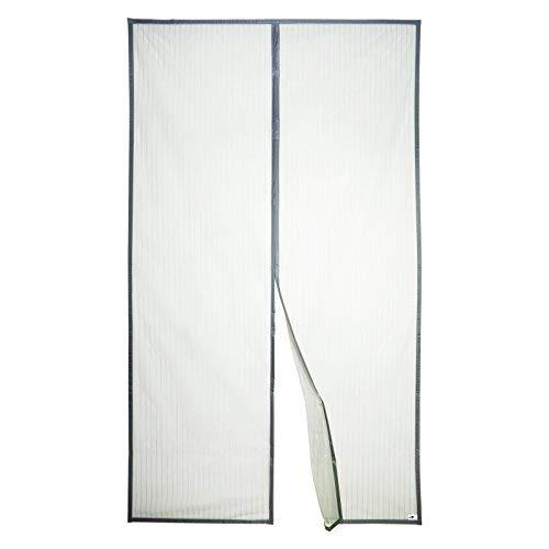 Apalus Magnet Fliegengitter Tür Insektenschutz 140x240cm, Der Magnetvorhang ist Ideal für die Balkontür, Kellertür Und Terrassentür, Kinderleichte Klebemontage Ohne Bohren (Nicht Kürzbar) (Grau)