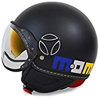 Casco Jet MOMODESIGN FGTR EVO Limited Edition Nero Logo decorativo taglia M 21825db3d98e