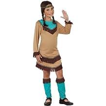 Atosa - Disfraz de indio para niña, talla 3 - 4 años (23787)