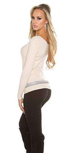 In-Stylefashion - Sweat-shirt - Femme beige beige taille unique Beige