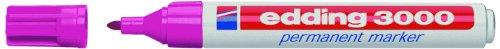 Edding 4-3000009 Permanentmarker, nachfüllbar, 1, 5 - 3 mm, rosa
