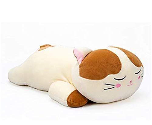 Lazada Plüsch Katze sehr weich umarmt Kissen gefüllte Kitty Tier Spielzeug braun 18