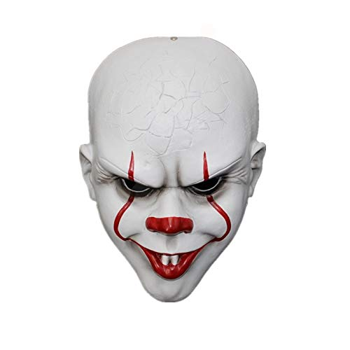 POIUYT Adult Halloween Cosplay Mask Horror Party COS Clown Resound Movie Surrounding Mask Ghost Tricky Funny Prop Resin Mask (Head Circumference: 29CM*21CM) (Horror Movie Halloween-party)