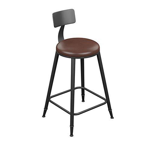 Daxiong Taburete de Bar - Taburete de Bar de Hierro Forjado de Cuero Vintage/Taburete Simple de Bar (Múltiples Buenas (Tamaño: 40 * 40 * 94 cm),40 * 40 * 88cm