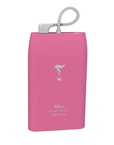 XTRA 6000mAh Li-Polymer Battery Portable Power Bank Built-in Micro Pin...