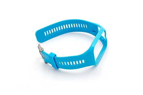 vhbw Armband für Tomtom Runner 2, Runner 3, Spark, Spark 3, Adventure, Golfer 2 GPS-Uhr, Wechselarmband, himmelblau