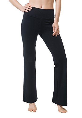 Matymats Damen Yoga Hose Bootcut Hohe Taille-Fitness Sport Workout Pants XS schwarz