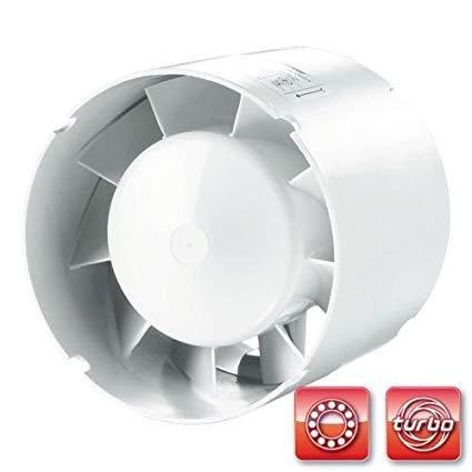 succsale Vents - SIKU de Ventilateur de Ventilateur ronde - Salle de Bain Ventilateur - Ventilateur avec clapet anti-retour et nachlauf réglable Roulement de 100 mm de diamètre