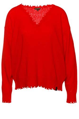 True Religion Pullover Cropped V-Neck für Damen Rot XS