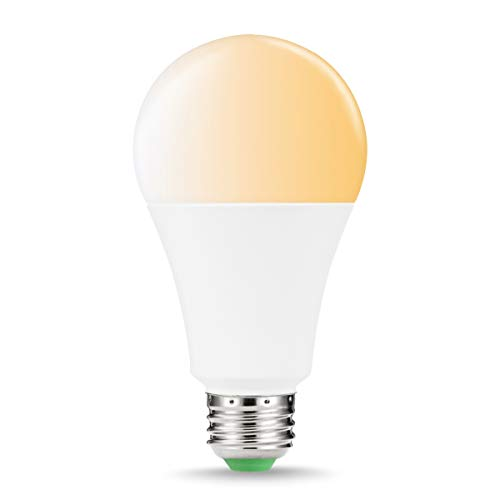 LOHAS warmweißes A65 WIFI LED Lampe Erweiterung, Dimmbar 14W Ersetzt Glühlampen mit 100W Glühbirne E27, Steuerbar via App, Kompatibel mit Amazon Alexa, und Google Home, 1er