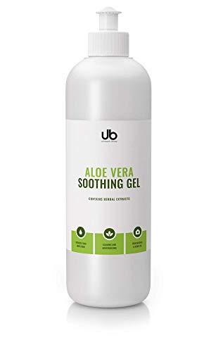 Aloe Vera Soothing Gel (UB Aloe Vera Soothing Gel für Gesicht, Haare und Körper - speziell formuliert, um die Haut zu glätten und ihr Aussehen zu verbessern 500 ml)