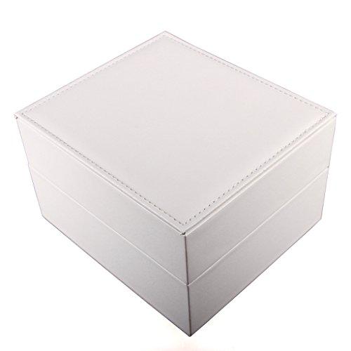 ZXCVBNM PU-Top-Uhrenbox Weiße Schmuckbox
