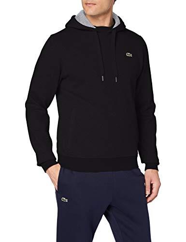 Lacoste SH2128 Herren Sport  Sweatshirt , Schwarz (Noir/Argent Chine), XXX-Large (Herstellergröße: 8)