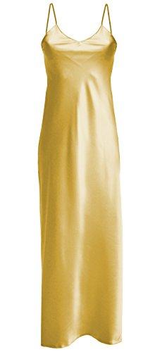 Dkaren - Langes Nachthemd aus Satin - Iga Gold