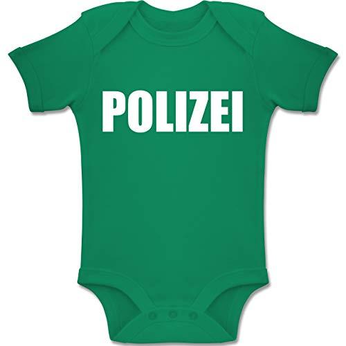 Shirtracer Karneval und Fasching Baby - Polizei Karneval Kostüm - 6-12 Monate - Grün - BZ10 - Baby Body Kurzarm Jungen Mädchen (12 Baby-jungen Kostüme 6 Monate)