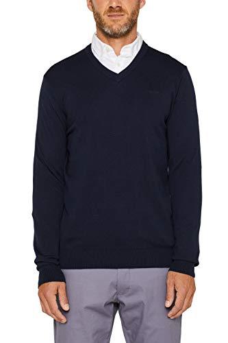 ESPRIT Herren 999Ee2I804 Pullover, Blau (Navy 400), Large (Herstellergröße: L)