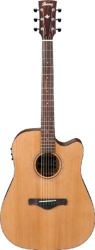 IBANEZ AW65ECE LG NATURAL LOW GLOSS Elektroakustische Gitarren Folk Elektro-Akustik (Akustik-elektro Ibanez Gitarre)