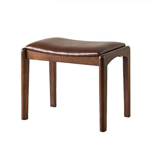 Jjxzm sgabello per vestire, moderno creativo piccolo banco in legno massello sgabello da tavolo di moda sedia da scrivania per pianoforte (colore : brown)