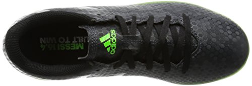 adidas Messi 16.4 Fxg, Chaussures de Football Mixte Enfant Multicolore (Dark Grey/silver Metallic/solar Green)
