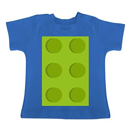 Karneval und Fasching Baby - grüner Stein 6-1-3 Monate - Royalblau - BZ02 - Baby T-Shirt Kurzarm