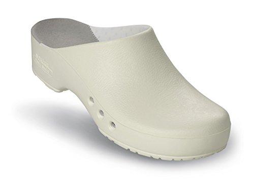 Schürr chiroclogs professional oP-chaussures unisexe avec et sans au niveau du talon Blanc - blanc