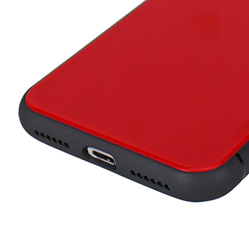 iPhone X Hülle, iPhone 10 Cover, Rosa Schleife Lightweight Slim Hybrid Handyhülle Soft TPU Silikon Bumper Plastik Schutzhülle Backcover Stoßfeste Holster Abdeckung Schale für iPhone X / 10 Rot Rot