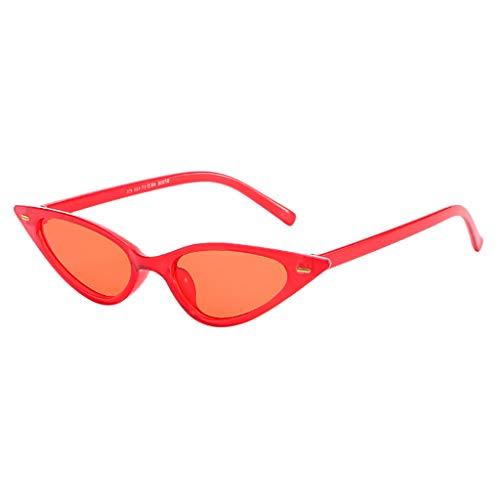 Igemy Unisex Mode Kleine Rahmen Sonnenbrille Vintage Retro Cat Eye Brillen (B)