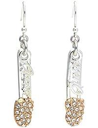 72d31e8a89ba Guess UBE21108 Boucles d oreilles pendantes pour femme en métal Argenté or  rose