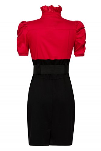 Laeticia Dreams Damen Kleid Business XS S M L XL Rot